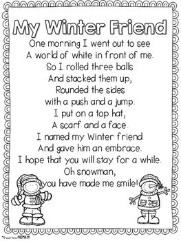 Winter Snowman Poem