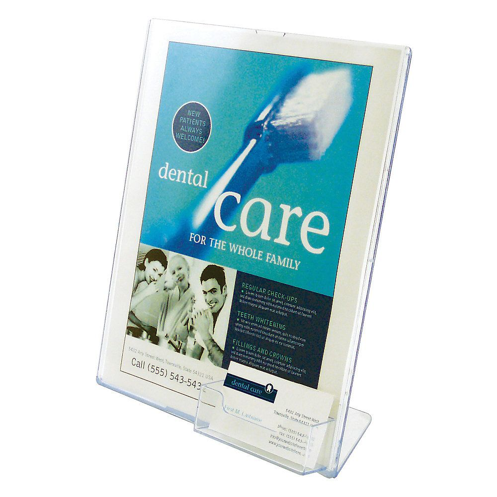 Deflecto superior image sign holder clear by office depot