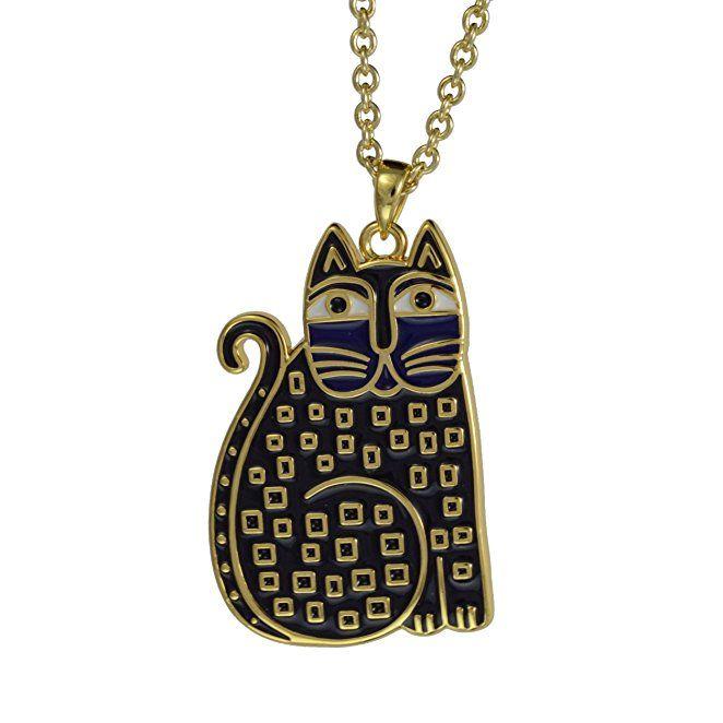 Laurel Burch Indigo Cats Cloisonne Pendant w/ Necklace $47.99