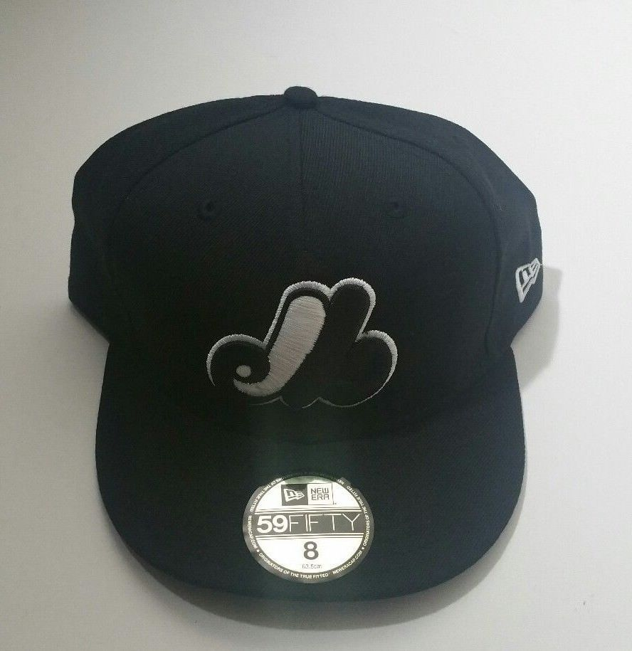 New Era Montreal Expos 59fifty Mlb Team Baseball Fitted Hat Black Size 8 Newera Montrealexpos Baseball Fitted Hats Mlb Teams Fitted Hats