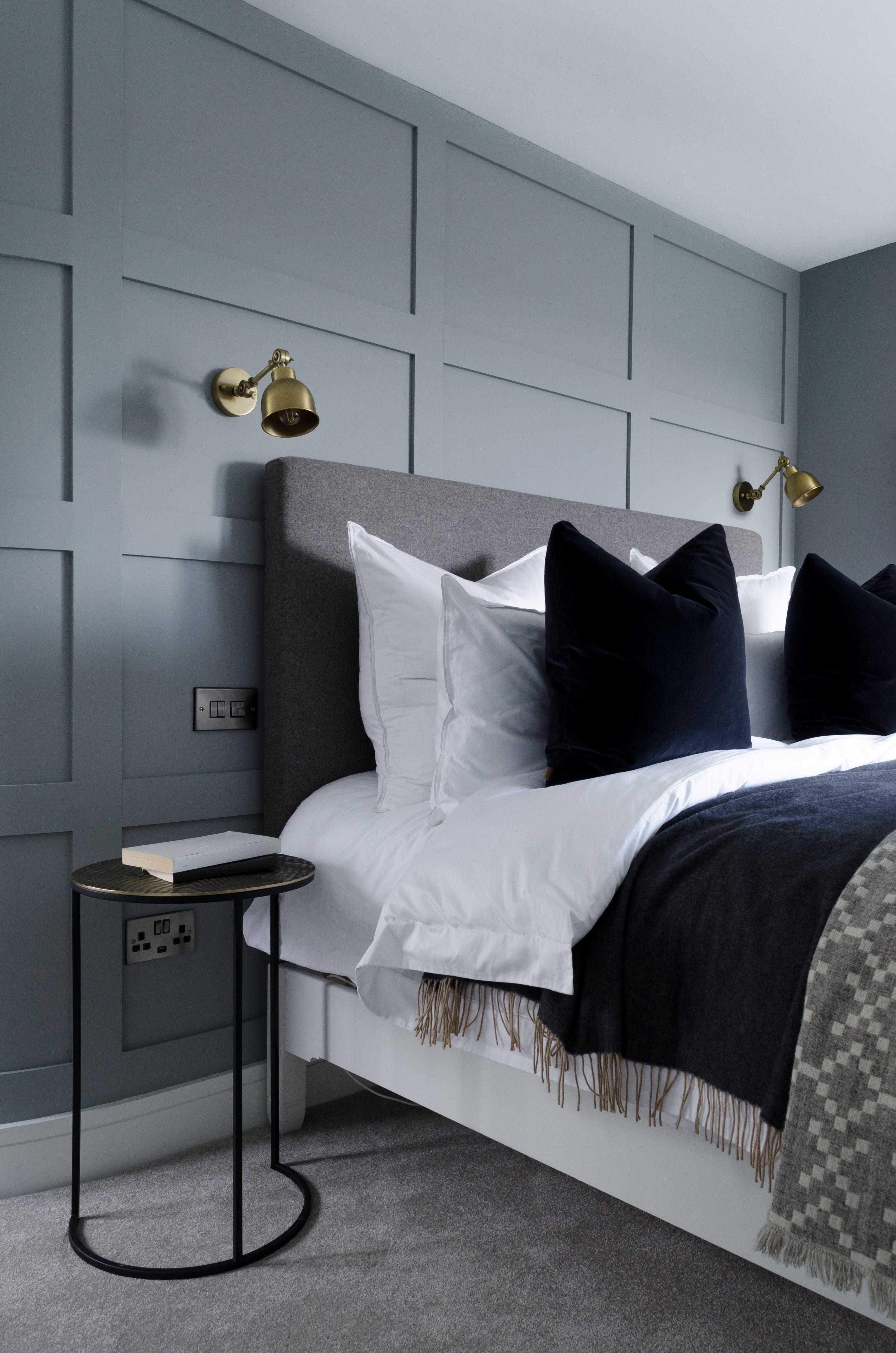 Dark Grey Master Bedroom by Geri Designs | Luxurious ...