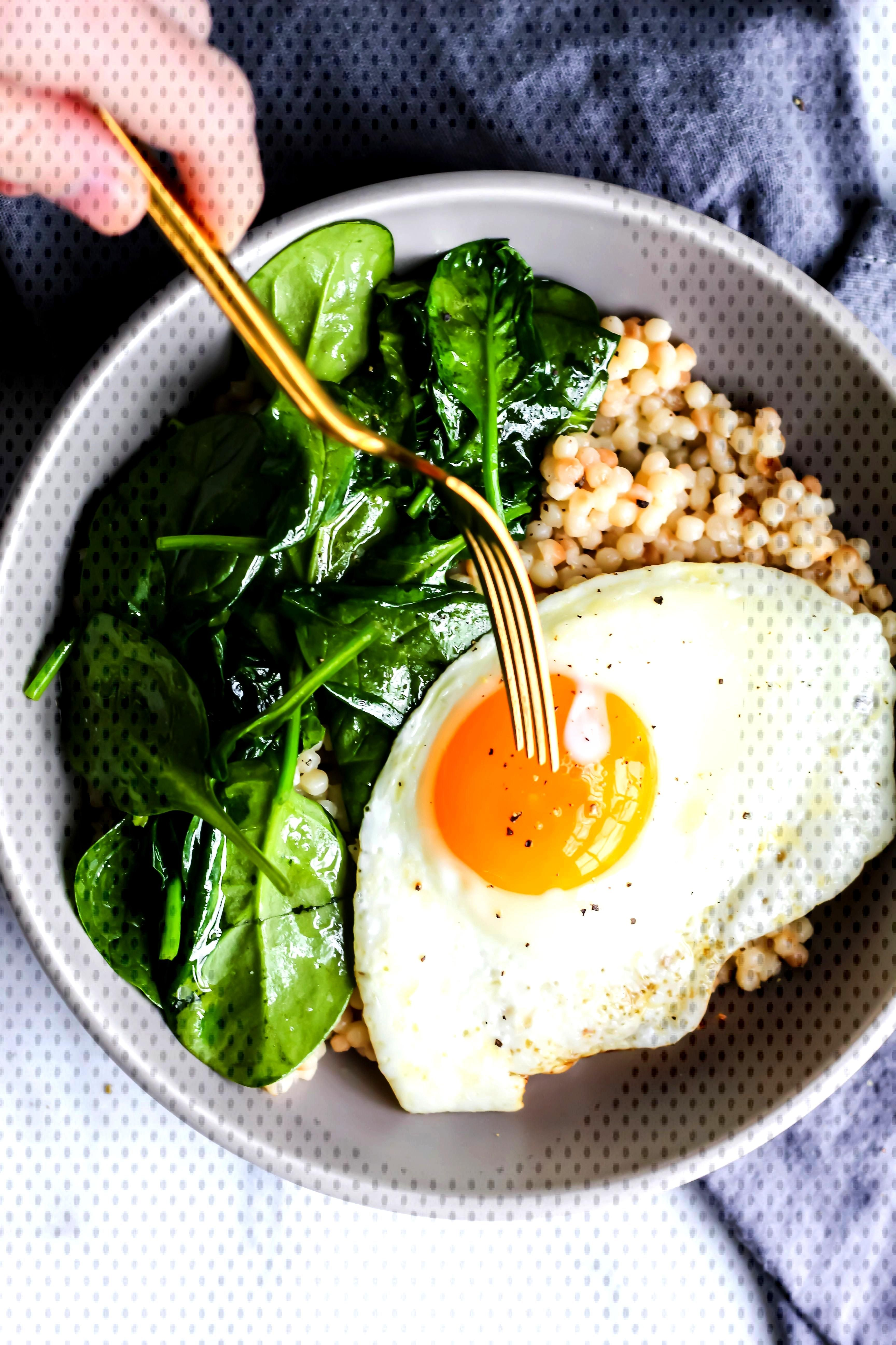 Roasted Garlic Couscous Breakfast Bowl This Roasted Garlic Couscous Breakfast Bowl is loaded with