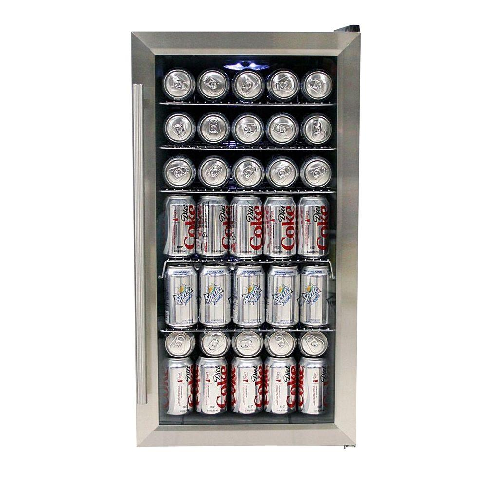 Whynter 17 In 117 12 Oz Can Cooler In Stainless Steel Br 125sd Refrigerador De Acero Inoxidable Centro De Bebidas Dic