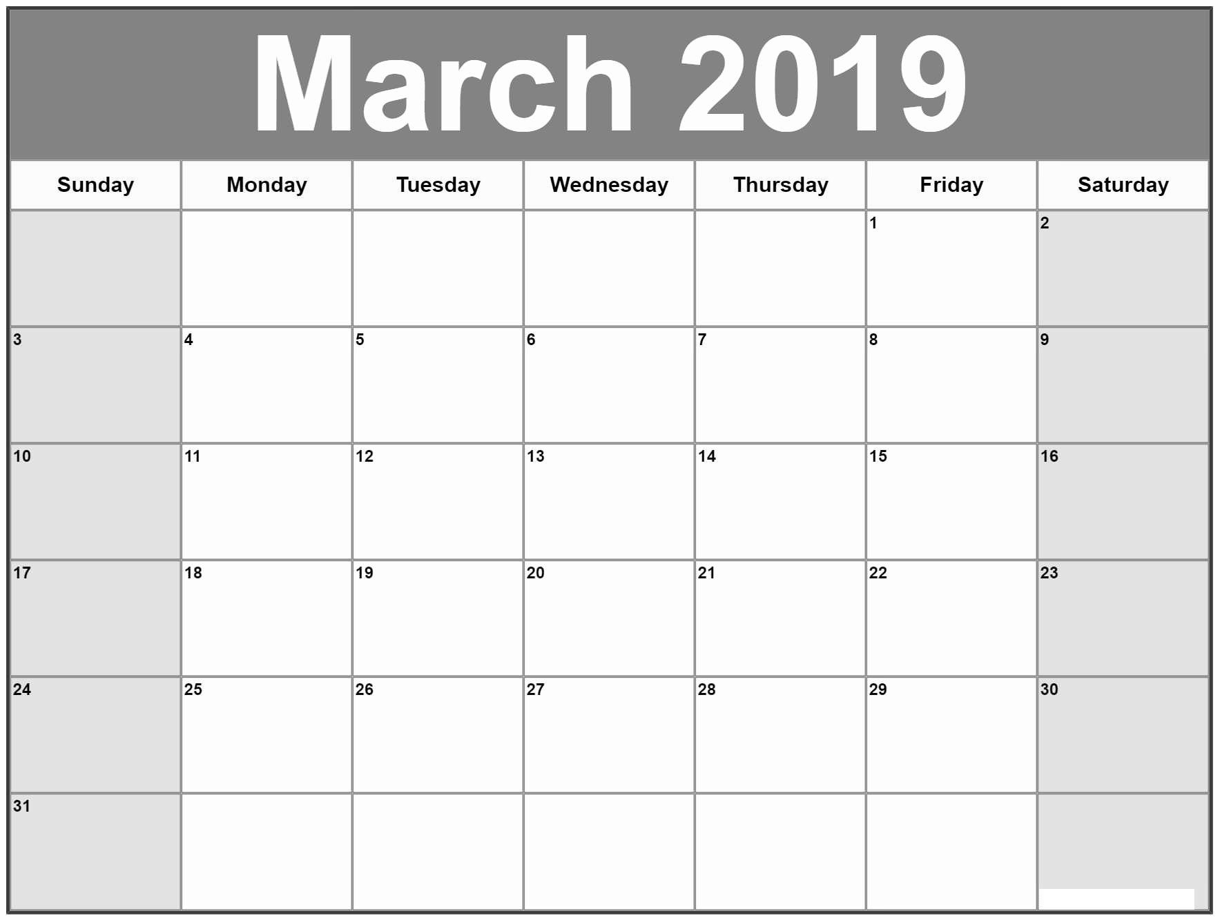 Printable March Calendar Worksheet