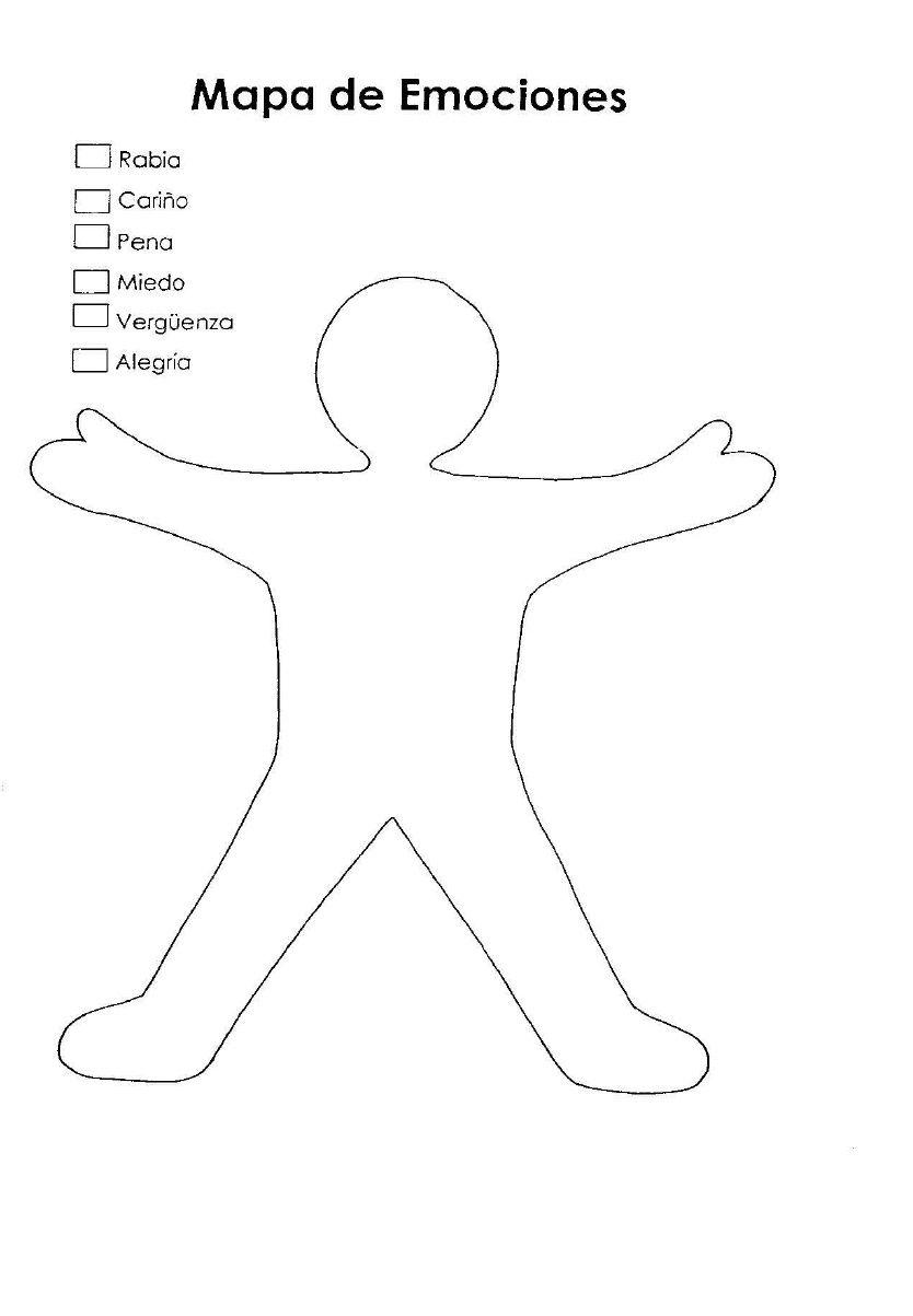 Mapa De Las Emociones.Mapa Corporal De Emociones Para Ninos Las Emociones Para