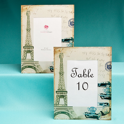 Paris Themed Wedding Reception Ideas: These Table Number Frames Are Great For A Paris-themed
