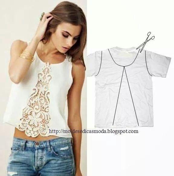 Buenas noches, te dejo otra #ideadiy para #customizar camisetas viejas y las renueves con este sencillo truco. :-)