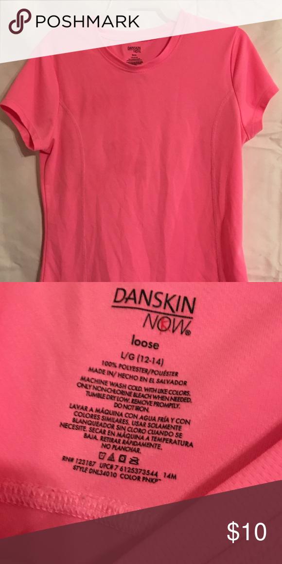 Danskin Now Pink Shirt Large Danskin Now Pink Shirt Large Danskin Tops Tees - Short Sleeve