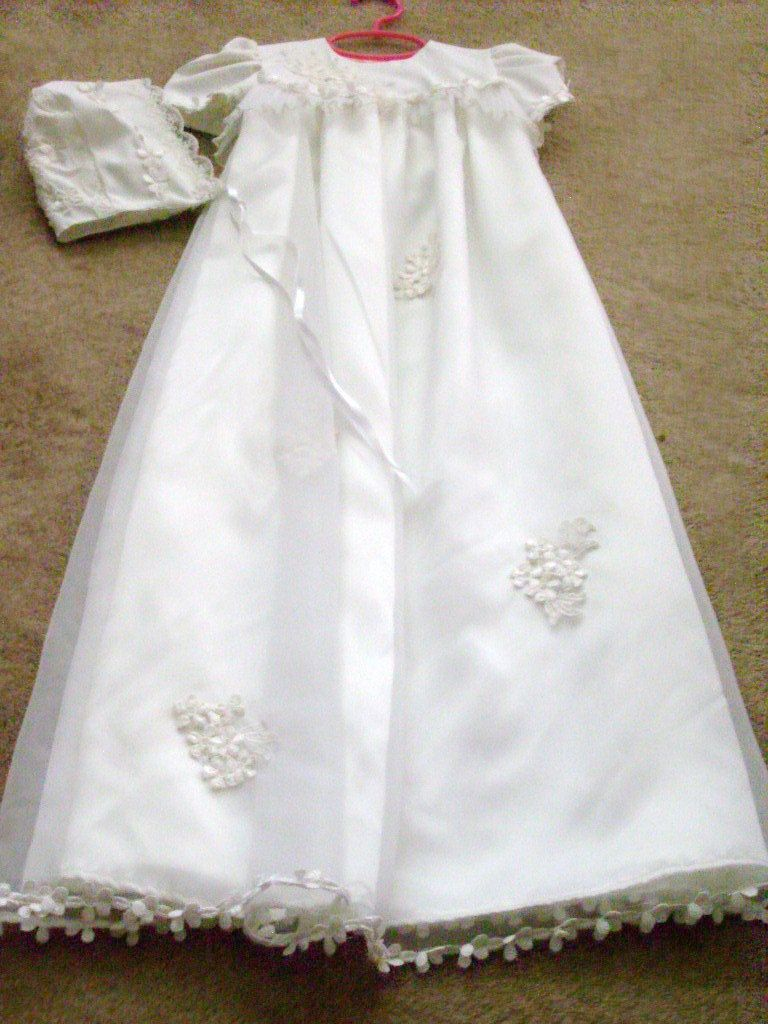 Custom designed baptism gown made from your wedding gown wedding