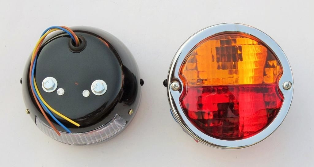 2x Rear Tail Lamp Light With Licence Plate Window Vintage