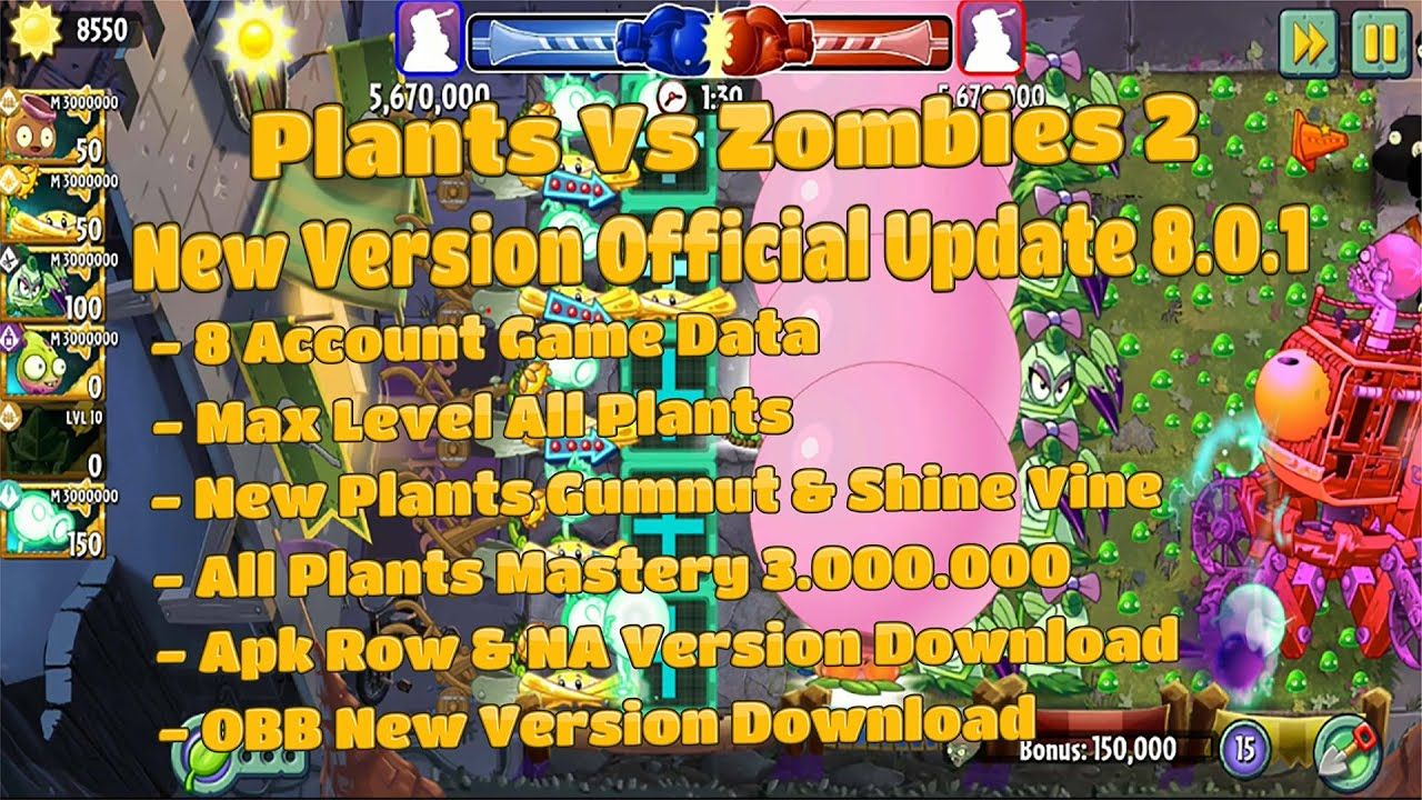 Plants Vs Zombies 2 New Update Official 8 0 1 Game Data New