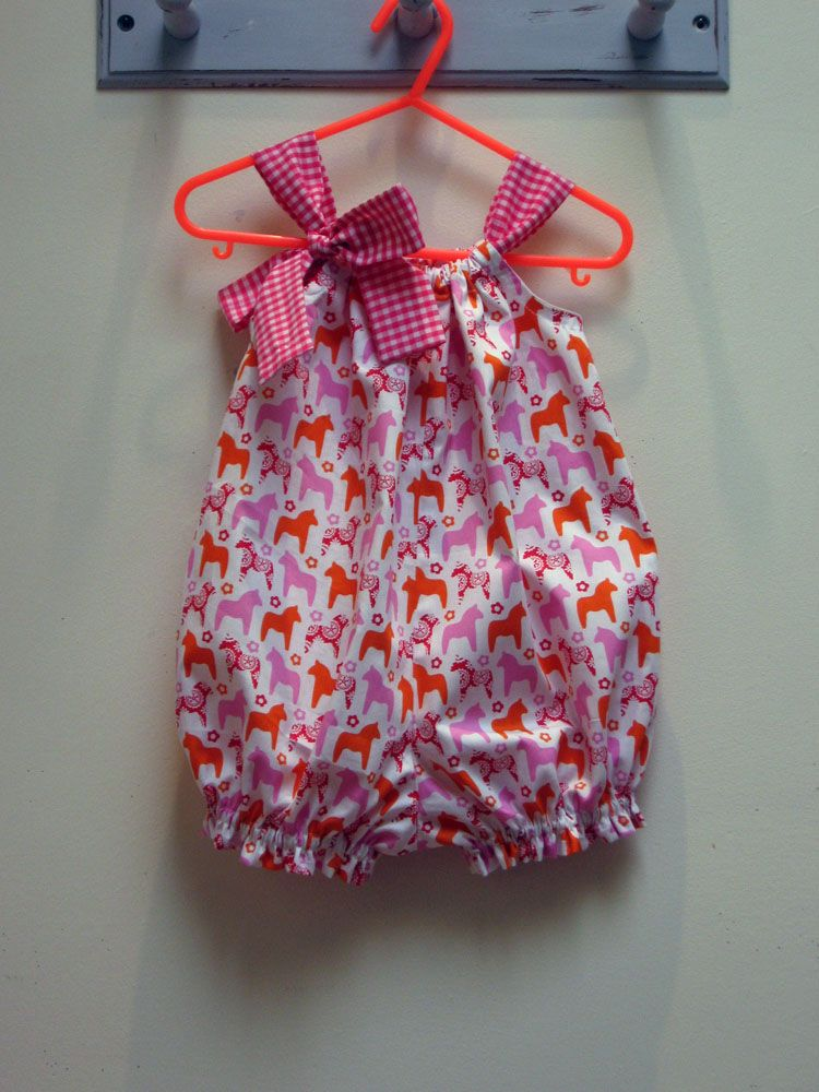 Very east to sew pattern --- Pretty Baby Romper | baby dress design ...