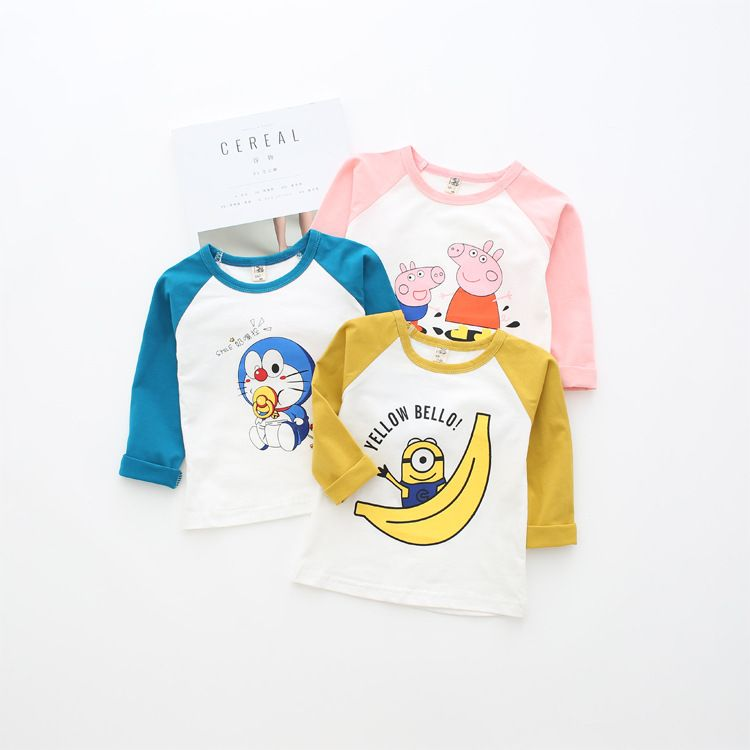 custom design baby cartoon printed shirt wholesale cotton kids t