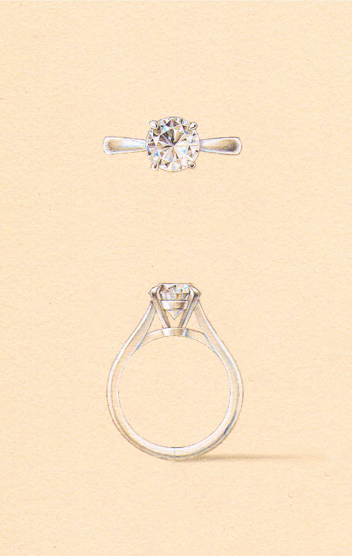 The Indus Setting Naveya Sloane Engagement Ring Made To Order In