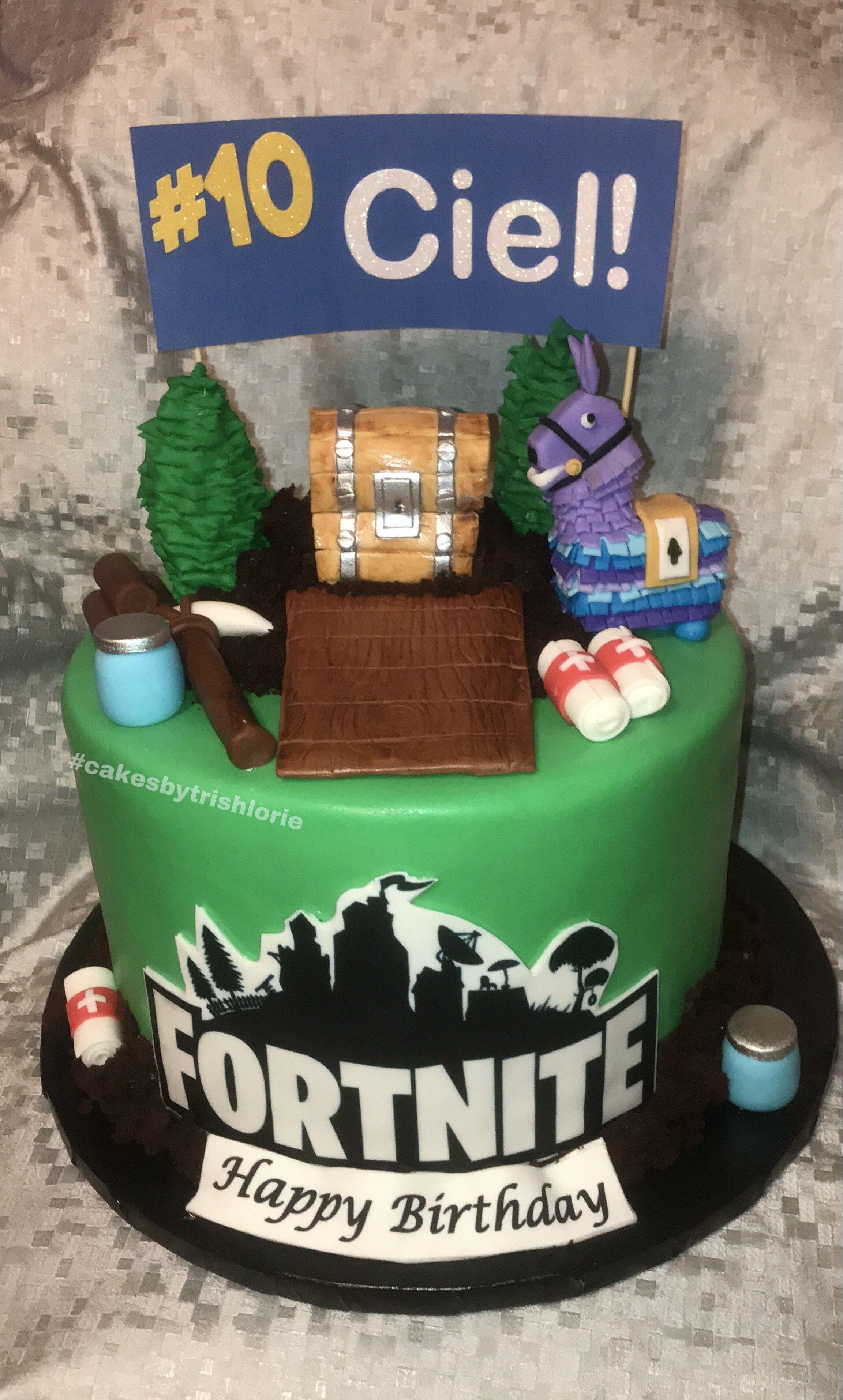 Fortnite cake llama cake themed cakes cake boss cake
