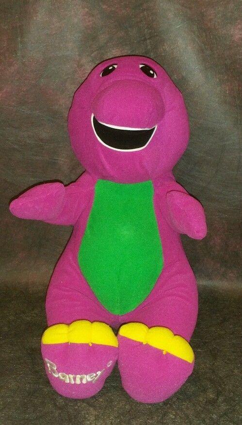 1992 Talking Interactive Barney Dinosaur Phrases Stuffed