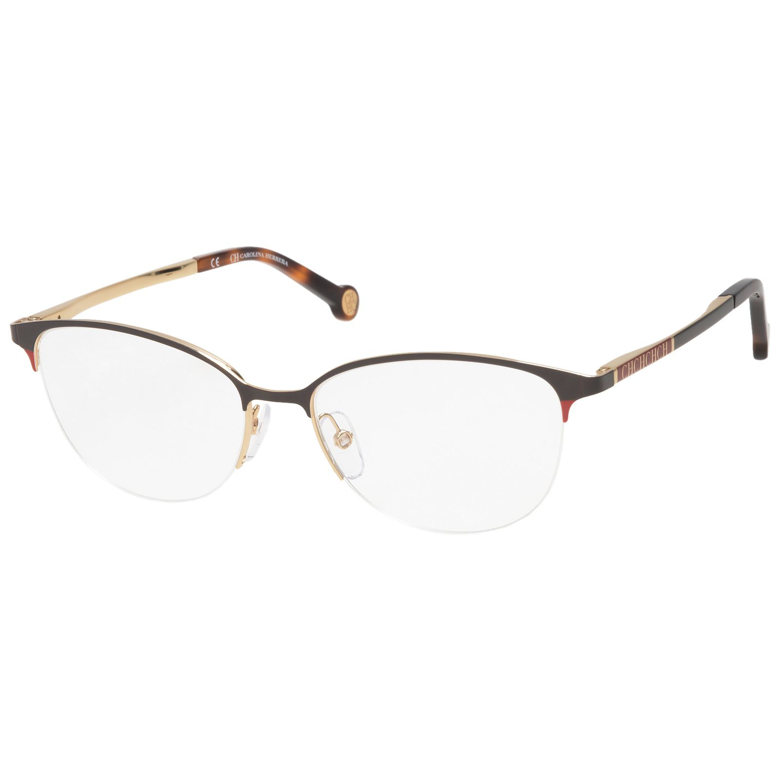 Carolina Herrera VHE093 0342 Braun Gold #eyewear #fashion ...