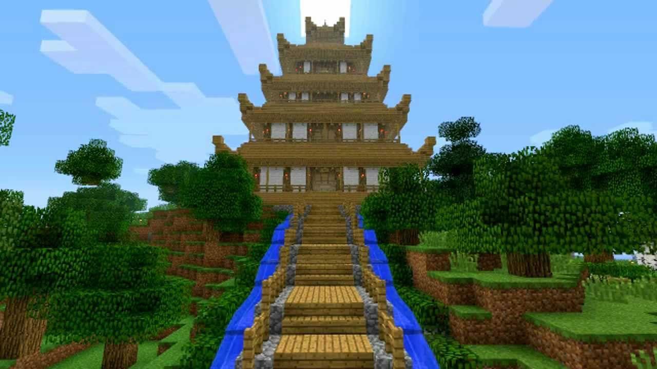 Minecraft japanese pagoda design 1019395 inspiration for Pagoda house plans