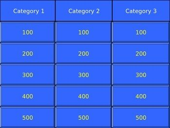 this is a great free jeopardy game template that can be used for, Powerpoint templates
