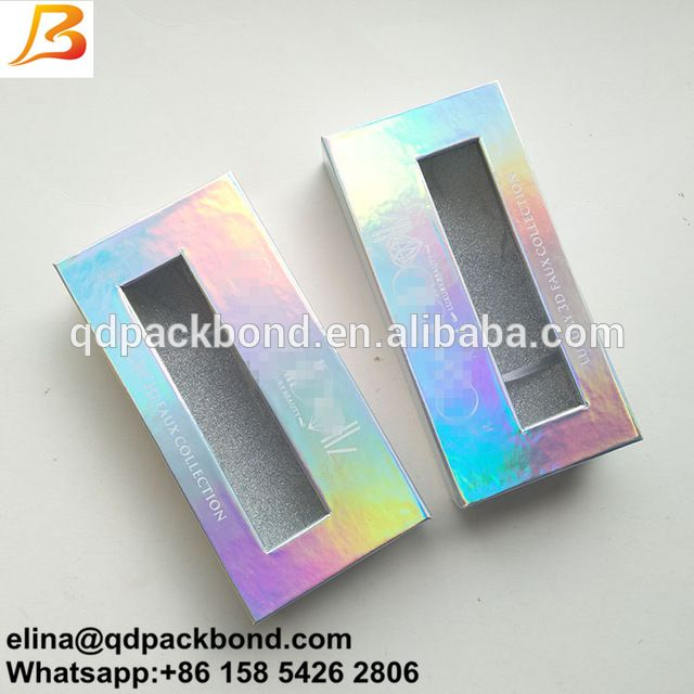 ba32ac3afab Source New custom foil logo diamond shape iridescent paper eyelash box,100%  3D own brand mink lashes private label eyelash packaging on m.alibaba.com