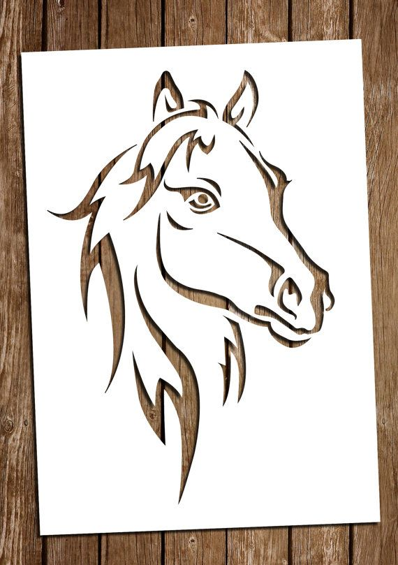 horse svg cutting files pdf paper cutting template horse paper cut