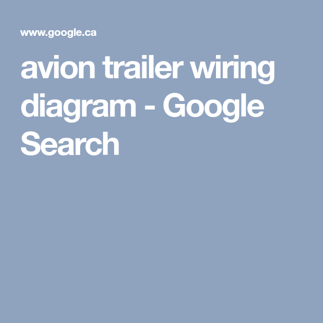 Avion Trailer Wiring Diagram - All Kind Of Wiring Diagrams •