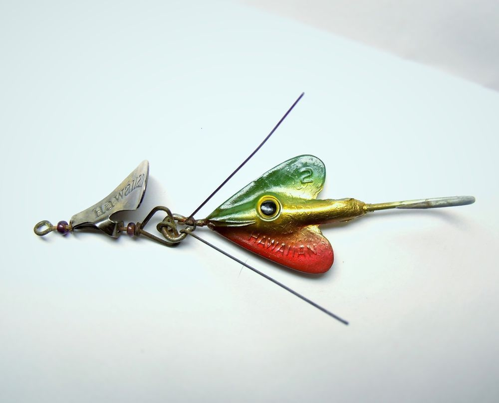 vintage fred arbogast weedless hawaiian wiggler spinner