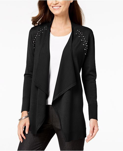 Studded Cardigan.color(Teal Abyss)   Long sleeve cardigan