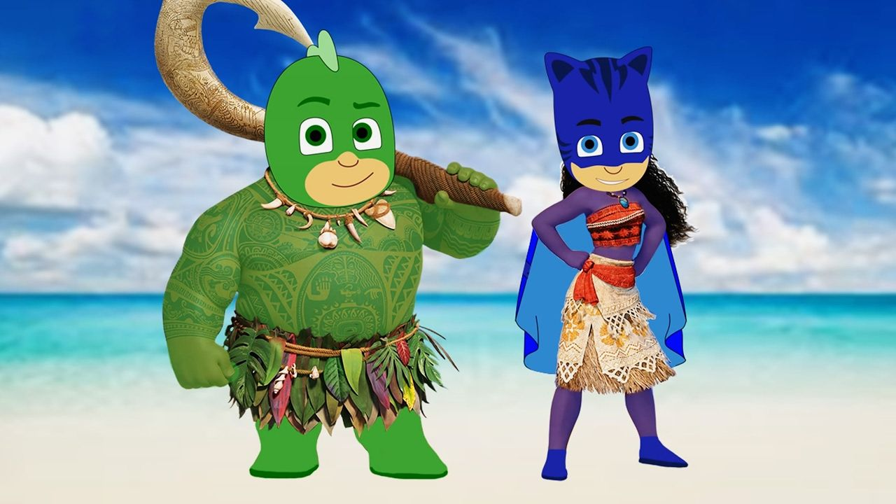 PJ Masks Catboy Gekko as Disney Moana Maui Fun Videos For ...