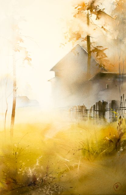 Ilya Ibryaev Avec Images Peinture Paysage Paysage Aquarelle