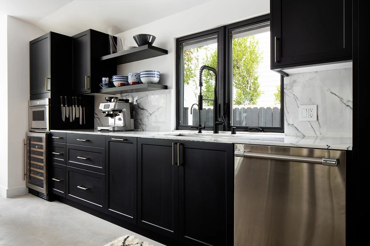24++ Black shaker cabinets kitchen type