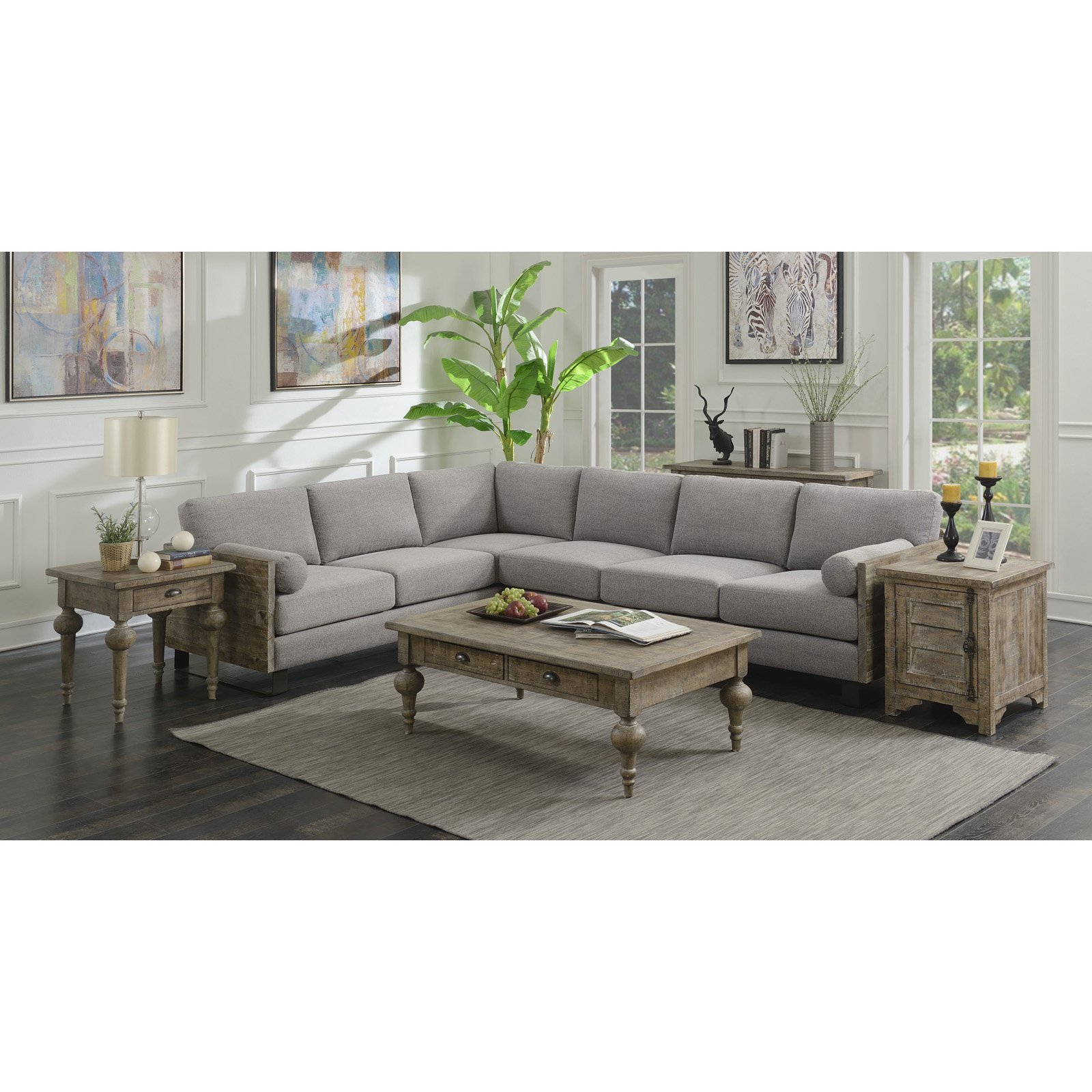 Pleasing Emerald Home Interlude 2 Piece Sectional With Bolster Ocoug Best Dining Table And Chair Ideas Images Ocougorg