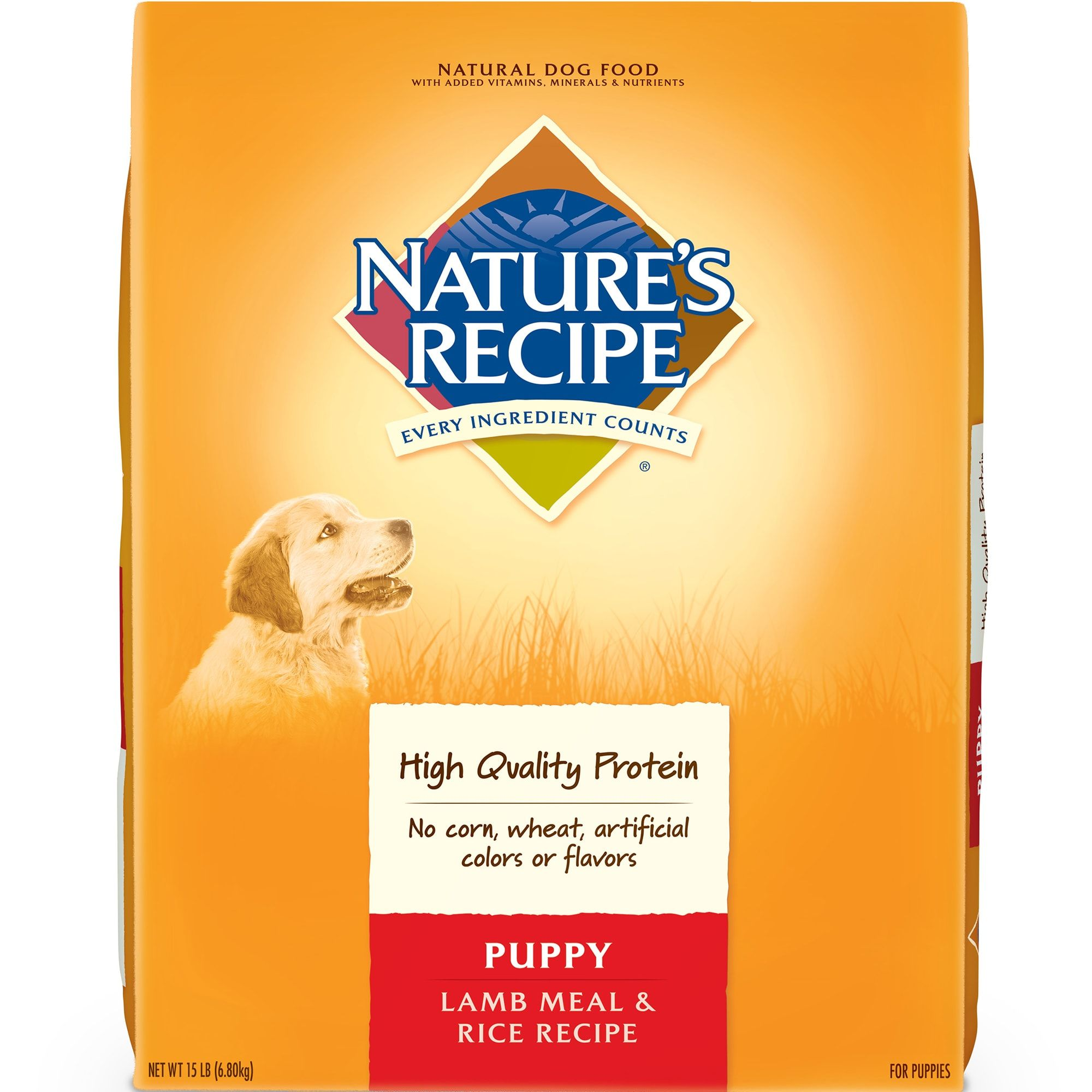 Nature S Recipe Puppy Lamb Meal Rice Formula 15 Pound Bag In