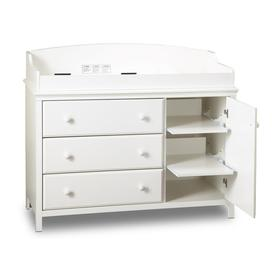 South Shore Furniture 47 In W Pure White Surface Mount Changing