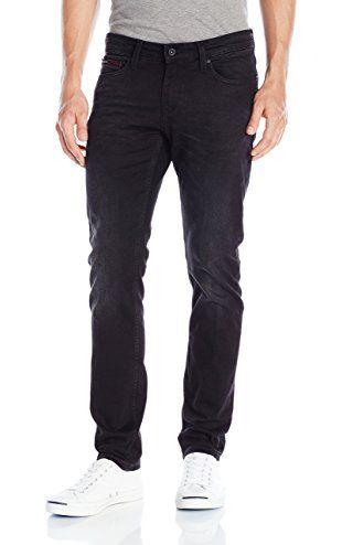 ffedc4e5c Tommy Hilfiger Denim Men's Skinny Sidney Comfort Jean, Bradfield Black  Stretch, 28x36 ❤ Hilfiger Denim