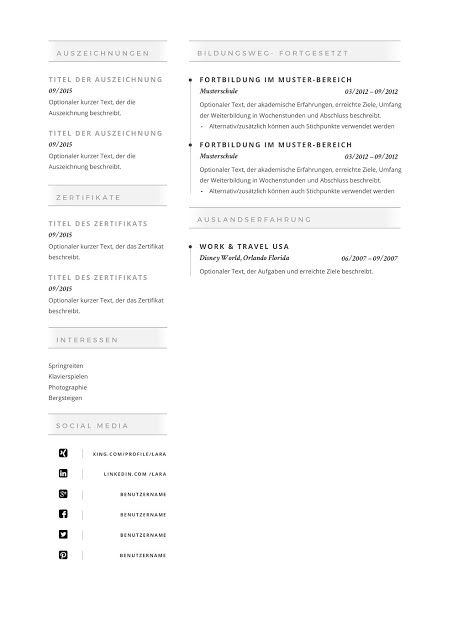 Premium Bewerbungsmuster 2019 Resume Templates Click Picture For