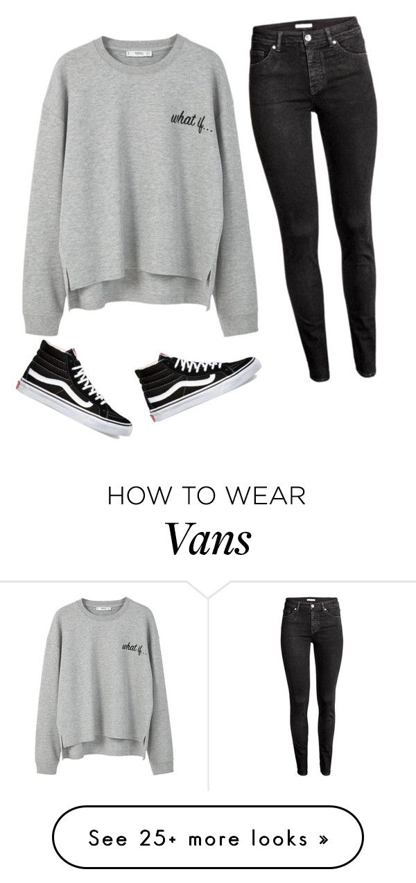 """""""What If..."""" by liveloveshopfashion on Polyvore featuring MANGO, H&M and Vans"""