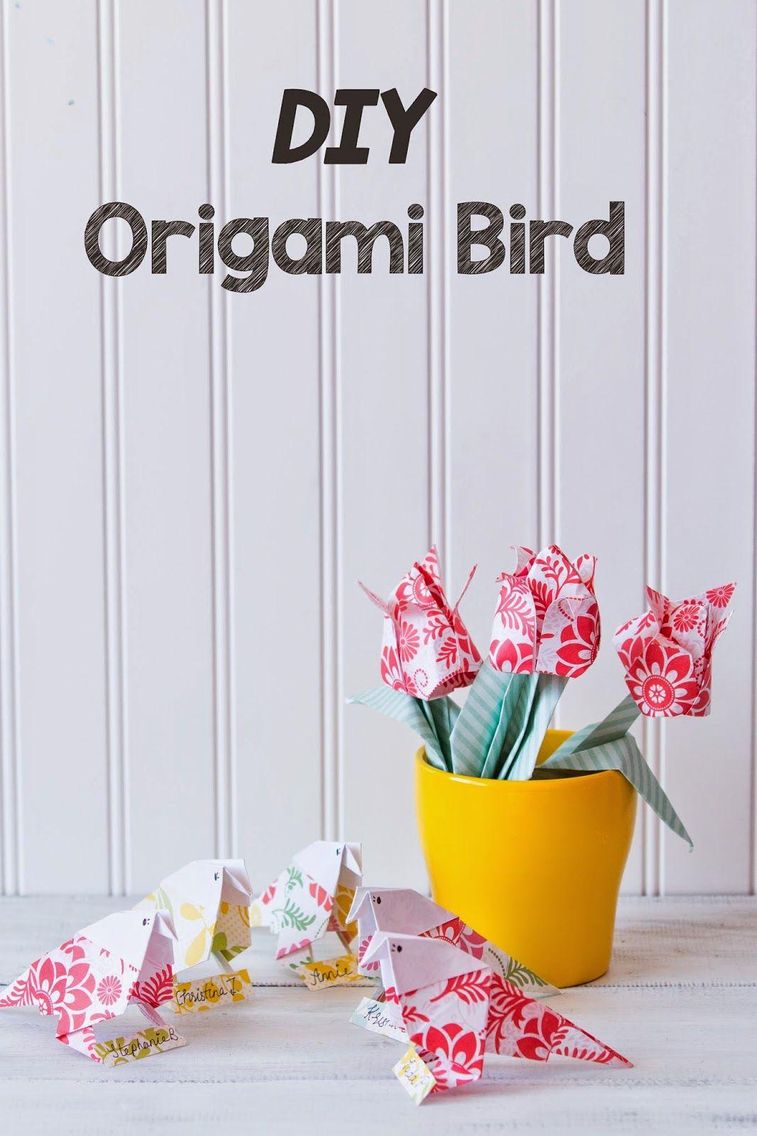 How To Make An Origami Paper Bird Pinterest Origami Birds