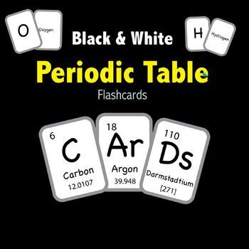 Periodic Table of Elements - Flashcards - Black \ White Periodic - copy periodic table of elements quiz 1-18