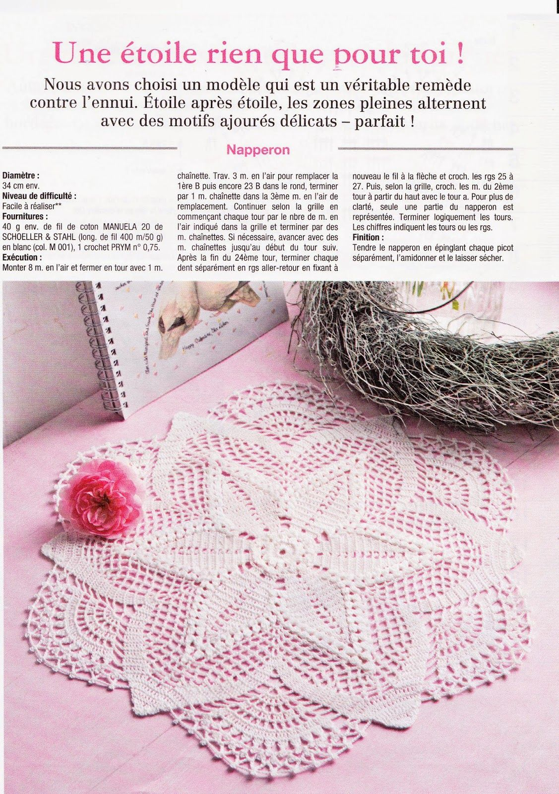 Único Crochet Patrones Pañito Gratuitas Bosquejo - Manta de Tejer ...