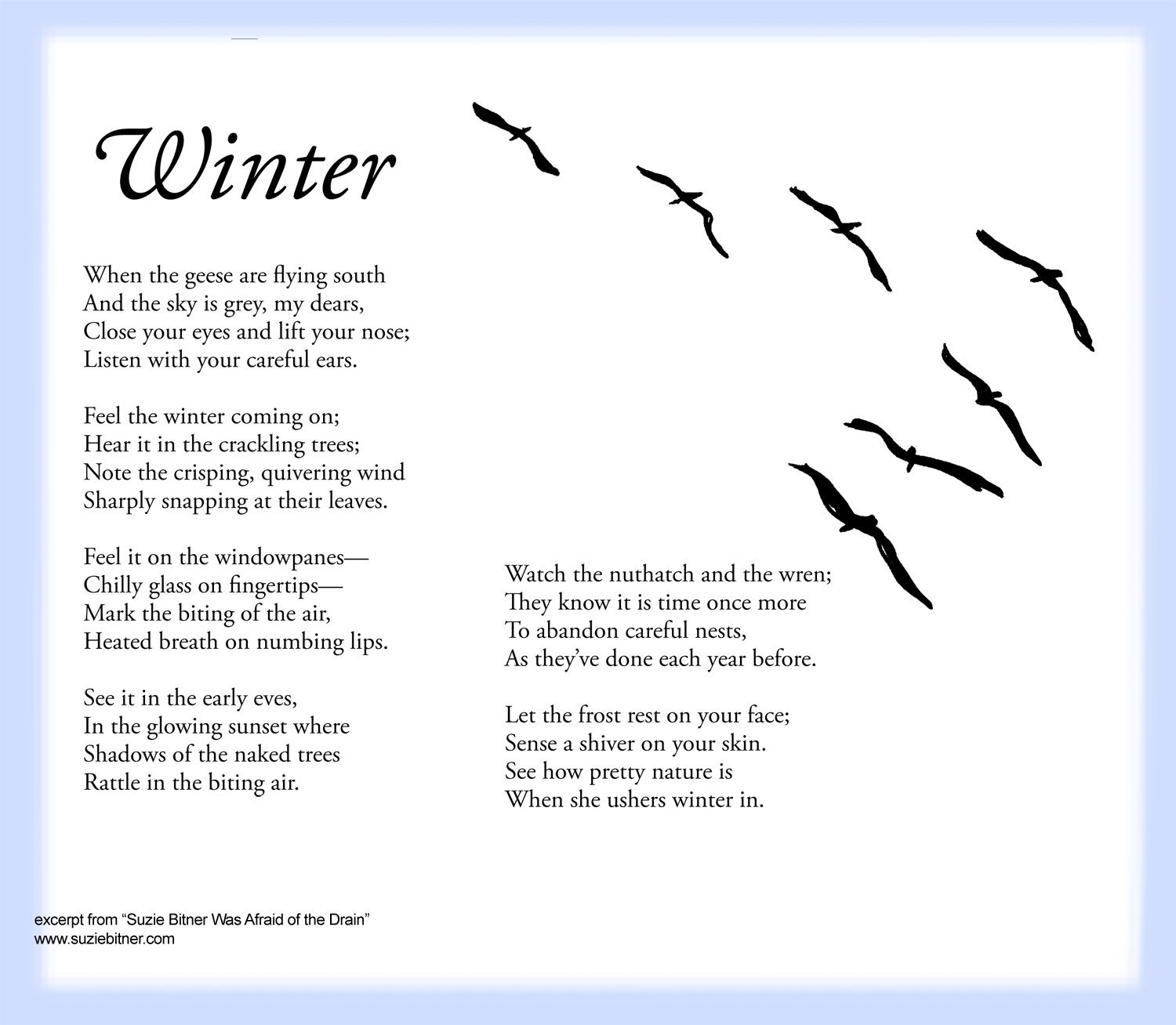 Sensory Language Winter Poem For Children Great For School And Classroom Activities Common