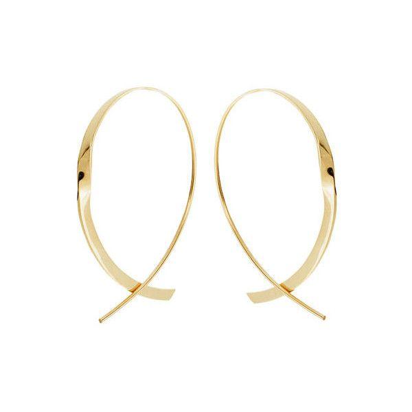 Lana Jewelry 14k Gold Medium Curve Hoop Earrings hBNBE