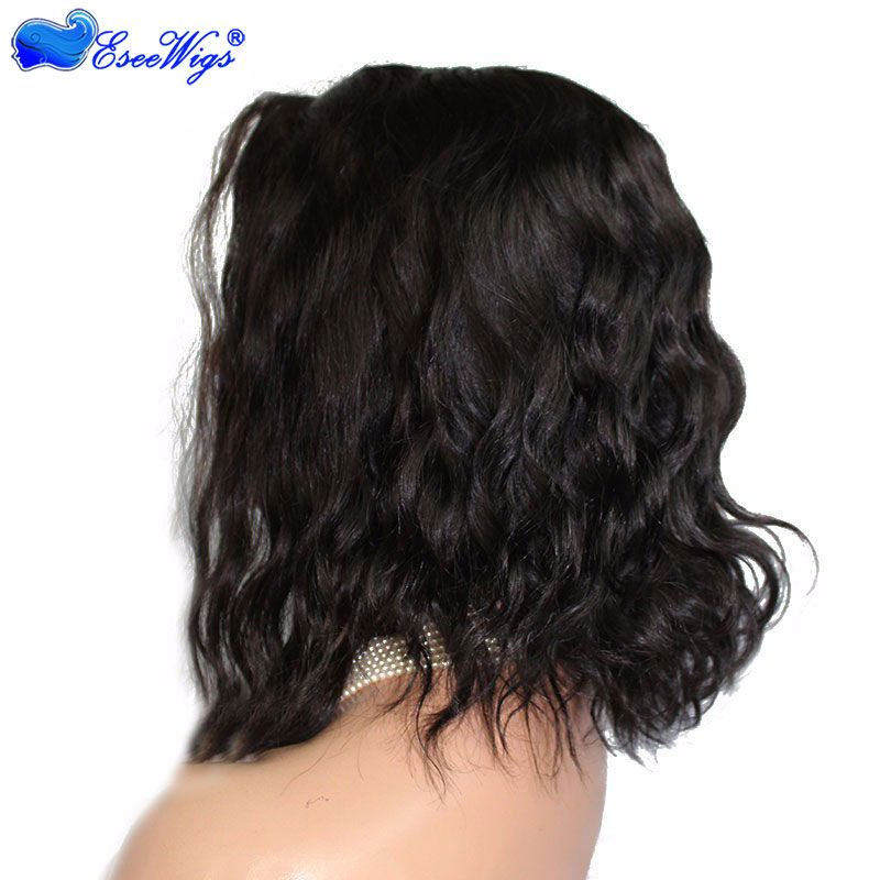 250% High Density Cute Loose Wave Short Wig Glueless Full Lace Wigs Human Hair with Baby Hair for Black Women
