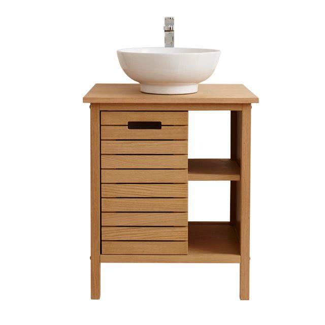 Meuble de salle de bains chªne 65 cm Tinn CASTORAMA