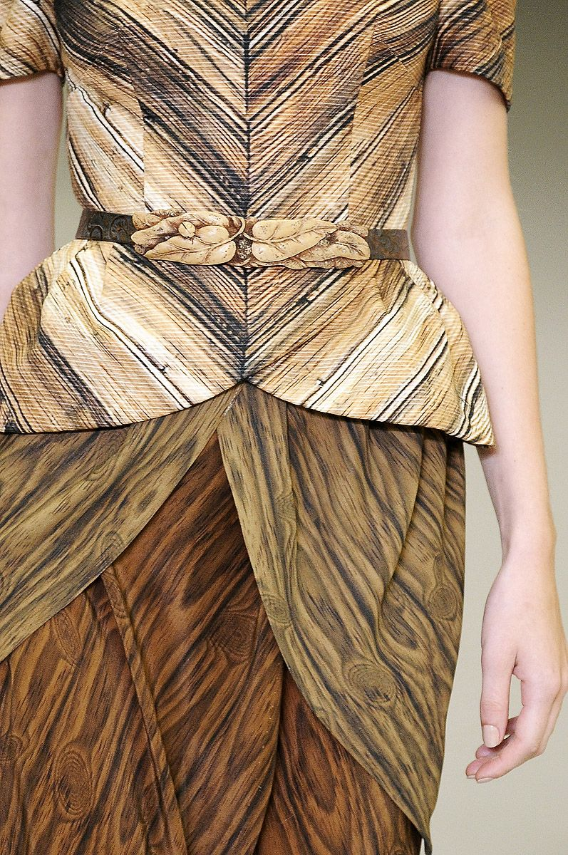 woodgrain fashion by Rodarte   Crazy fashion in 2019 ...