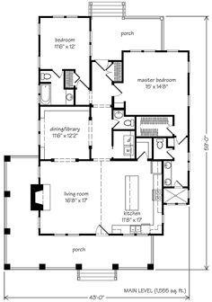 Southern Living - Whisper Creek - Plan SL-1653   I could tweek ...