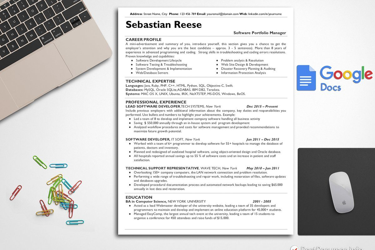 Clean cv resume cover letter in 2020 simple resume