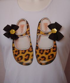 Mandarina Camisetas: Zapatito Leopardo