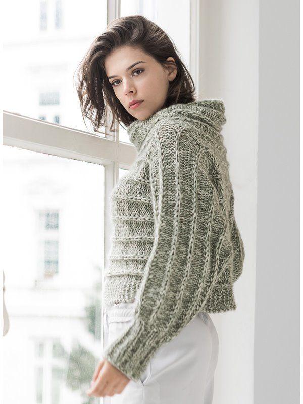 Lana Grossa PULLOVER Benessere/Silkhair – LOOKBOOK No. 7 – Magazine (DE) + Knitting instructions (EN) – Design 7 | FILATI Online Shop