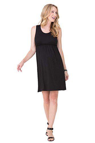 227180996cae9 Ingrid Isabel Womens Maternity Empire Tank Dress Jet Black Large ...